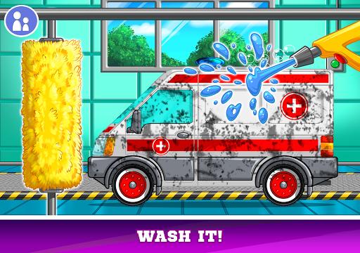 Kids Cars Games! Build a car and truck wash!  screenshots 10
