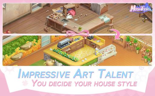 Meowtopia-Cat-themed decoration match 3 game  screenshots 3