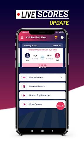 Cricket Fast Line - Fast Cricket Live Line  Screenshots 4