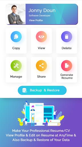 Resume Builder: Free CV Maker, PDF & WORD Format  screenshots 1