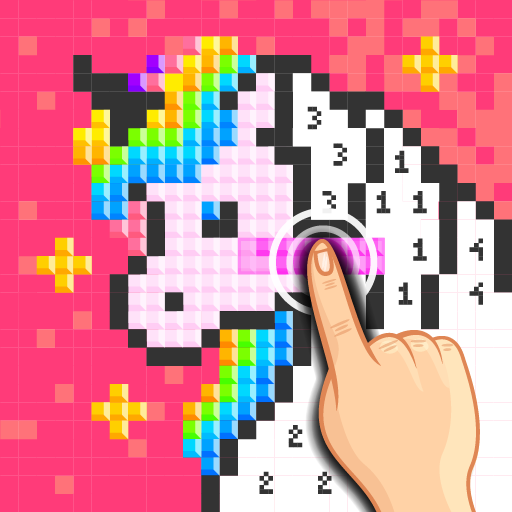 Unicorn Pixel - Color by Number