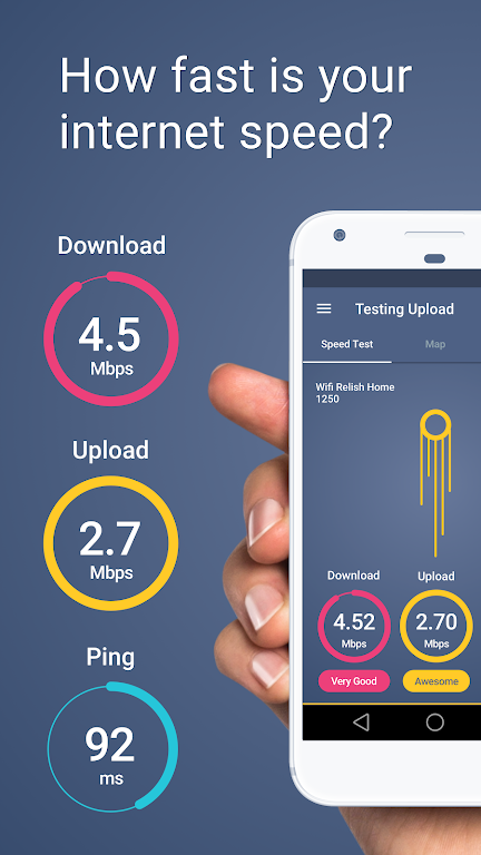 Meteor: Speed Test for 3G, 4G, Internet & WiFi  poster 0