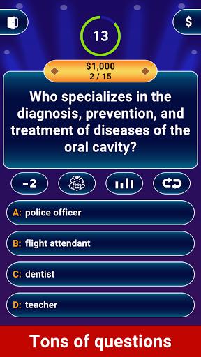 Millionaire 2020 -  Free Trivia Quiz Offline Game modiapk screenshots 1
