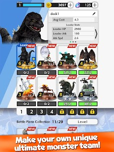 GODZILLA BATTLE LINE 1.1.3 MOD APK (Menu Mod, No Card Cost) 8