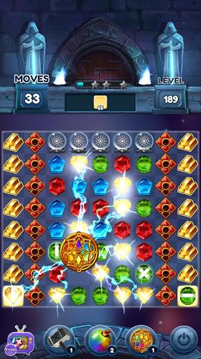 Magical Jewels of Kingdom Knights: Match 3 Puzzle apkdebit screenshots 3