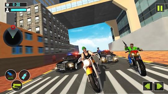 US Police Motor Bike Gangster Chase Games Apk Son Sürüm 2021 3