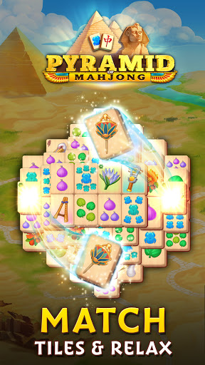 Pyramid of Mahjong: A tile matching city puzzle  screenshots 1