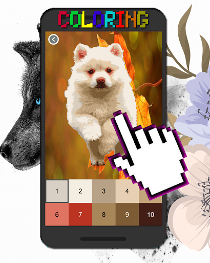 Dog Animal Coloring By Number-Pixel Art  screenshots 7
