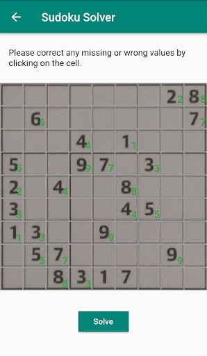 Sudoku Solver - Scanner app using camera goodtube screenshots 5