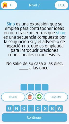 Juego de ortografía y gramática en Español https screenshots 1