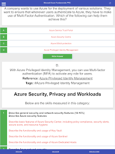 Learn Azure Fundamentals AZ 900: Quiz, FlashCards Screenshot