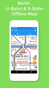 Berlin Subway – U-Bahn & S-Bahn map (BVG)
