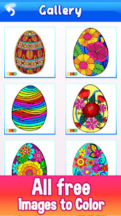 Easter Eggs Color by Number - Free Painting Book