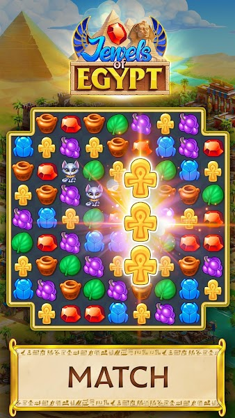 Jewels of Egypt: Gems & Jewels Match 3 Puzzle Game