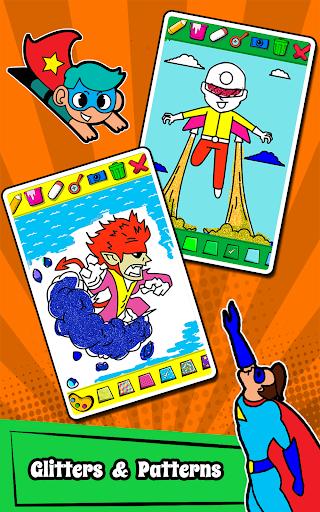Superhero Coloring Book Game & Comics Drawing book  screenshots 15