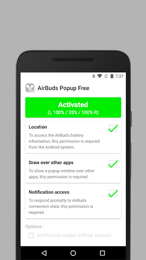 AirBuds Popup Free - airpod battery app v2.6.200111 free Screenshots 3