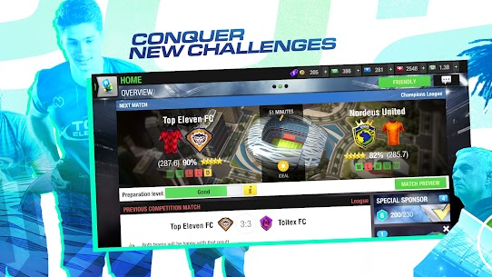 Download Top Eleven 2021 Be a Soccer Manager 11.1.1 Mod Latest Apk 2