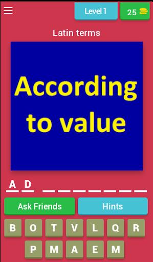 legal terms quiz (legal dictionary quiz) screenshot 1