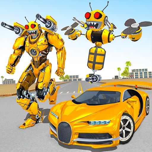 Bee Robot Car Transformation Game: Robot Car Games APK