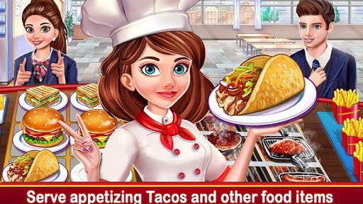 High School Café Girl: Burger Serving Cooking Game 2.4 screenshots 1