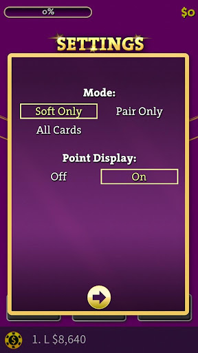 blackjack basic strategy training screenshot 1