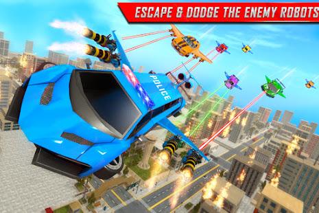 Flying Limo Robot Car Transform: Police Robot Game 1.0.32 Screenshots 6