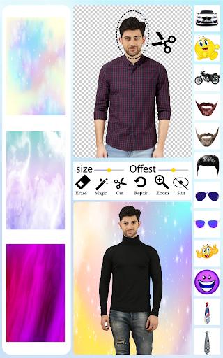 Men T-Shirt Photo Editor and Sweatshirt Dress apktram screenshots 1