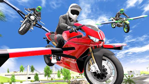 Flying Motorbike Simulator android2mod screenshots 14