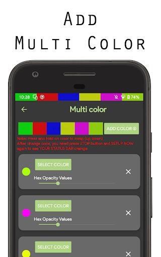 Color status bar - Customized Color & Wallpaper 47 screenshots 11