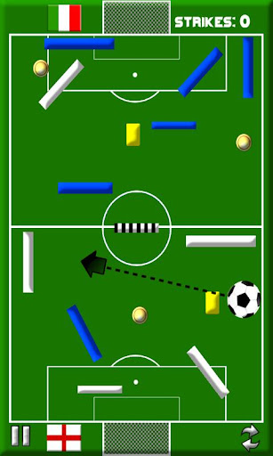 strike the goal -soccer themed physics puzzle game screenshot 2