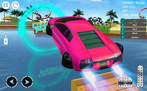 water car stunt racing 2019: 3d cars stunt games screenshot 1