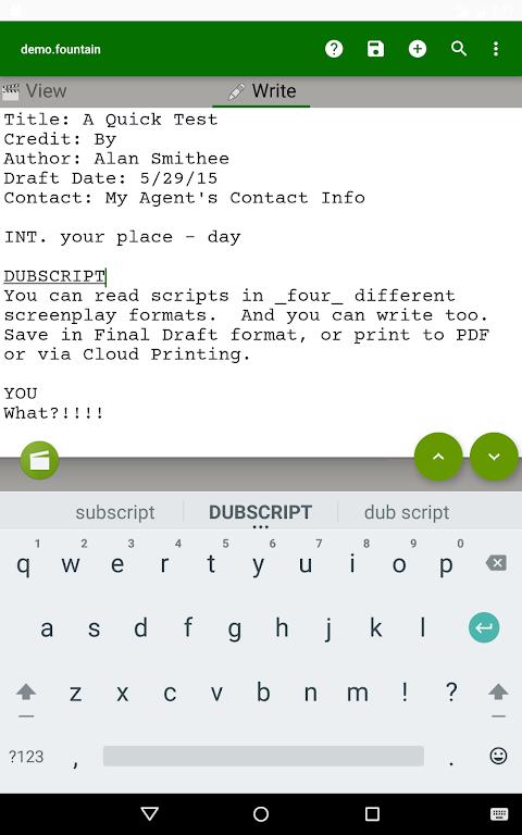 DubScript Screenplay Writer  poster 9