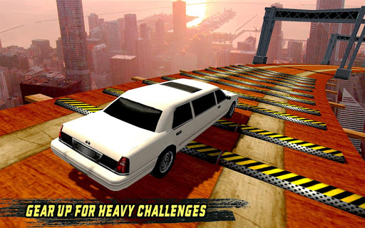 extreme limo mega ramp - car driving games 3d screenshot 1