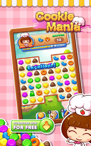 Cookie Mania - Match-3 Sweet Game modavailable screenshots 8