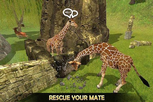 Giraffe Family Life Jungle Simulator apktram screenshots 6