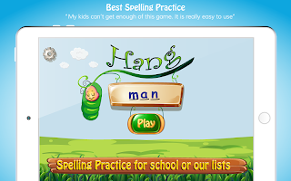 Hangman Fun spelling game for kids. Learning abc's