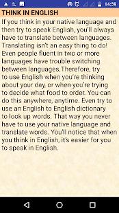 IMPROVE ENGLISH SPEAKING