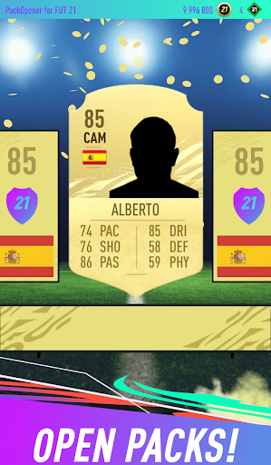 Pack Opener for FUT 21 1.49 screenshots 1