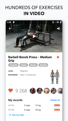 Gym Workouts & Fitness AZEOO modavailable screenshots 3