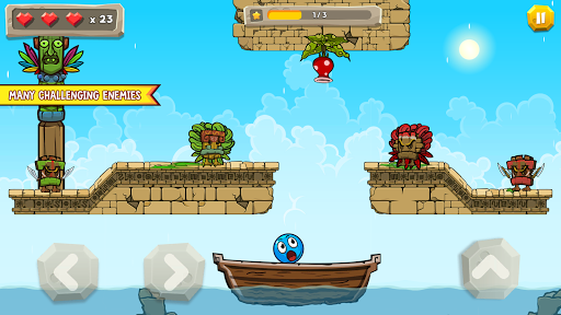 Blue Ball 11: Bounce Ball Adventure 2.1 screenshots 4