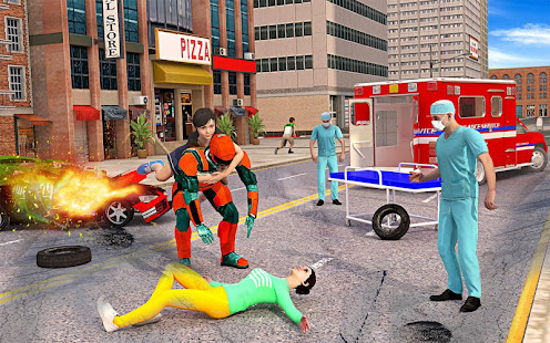 US Light Robot  Speed Hero :City Rescue Mission screenshots 8