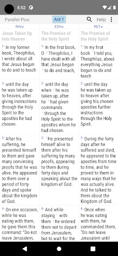 Parallel Plusu00ae offline Bible app with helps android2mod screenshots 1
