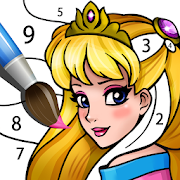 Princess Coloring Book: Magic Color by Number