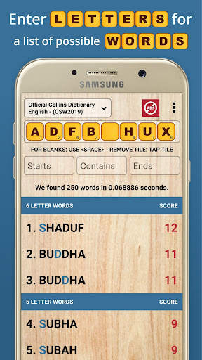 Word Checker - For Scrabble & Words with Friends  screenshots 2