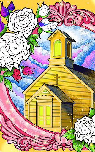 Bible Coloring - Paint by Number, Free Bible Games  screenshots 13