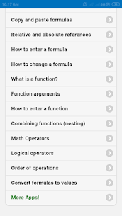 Excel formulas and functions 1