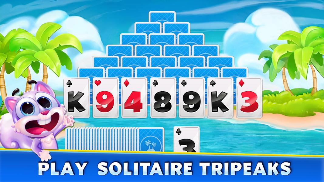 Solitaire game TriPeaks Island