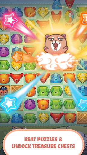 Fancy Dogs - Cute dogs dress up and match 3 puzzle  screenshots 5
