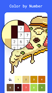 Color by number - 8bit pixel art