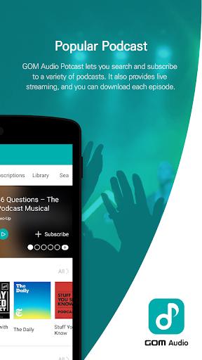 GOM Audio - Music, Sync lyrics, Podcast, Streaming 2.4.1 Screenshots 5